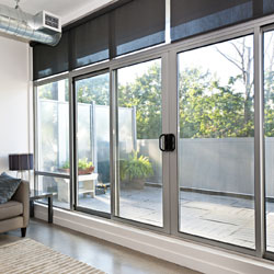 modern sliding windows and doors